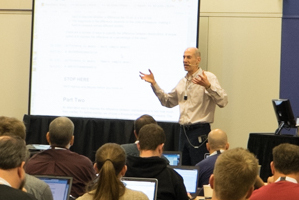 Allen Downey teaching a tutorial at PyCon 2015